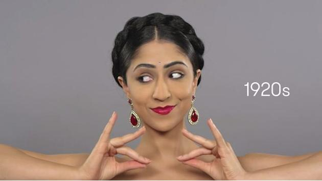 Bindis, jewel and henna style: 100 years of Indian beauty in a minute
