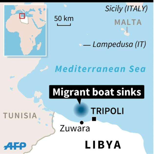 Migrant boat sinks off Libya