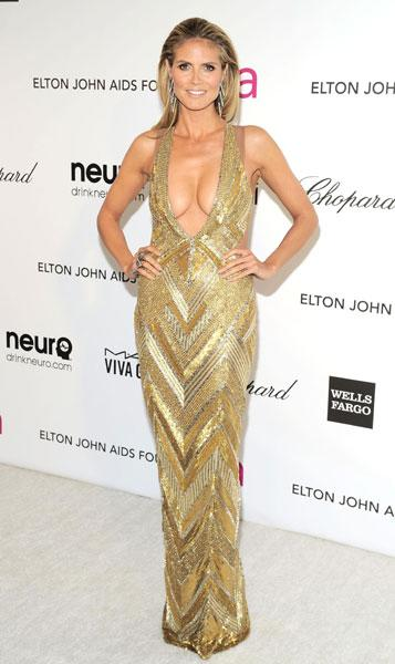 Worst dressed: Heidi Klum The supermodel Julien Macdonald Elton John AIDS Foundation Party Image © Rex