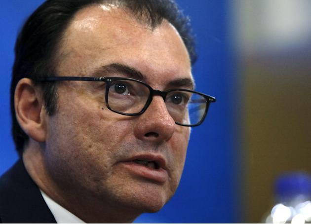 "Mexico's Finance Minister Luis Videgaray attends a meeting of the ""Alianza del Pacifico"" (Pacific Alliance) at the 2015 IMF/World Bank Annual Meetings in Lima"