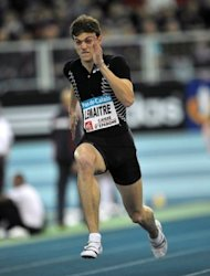 French athlete Christophe Lemaitre, seen here on February 14, has proved himself an elite level athlete over the last 12 months, finishing fourth in the 100m final at the World Championships in Daegu and going one better in the 200m