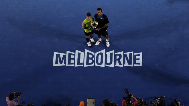 Bethanie Mattek-Sands Of The United States Of America And Horia Tecau Of Romania Pose With The Winners Getty Images