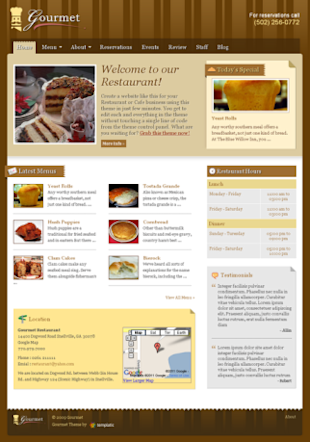 Masters of Presentation: How Content Marketing is Good for Restaurants image gourmet restaurant wordpress theme