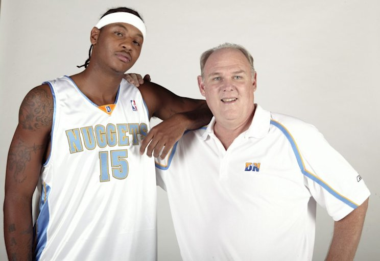 George Karl coached Carmelo Anthony on the Denver Nuggets from 2005-11. (Getty Images)