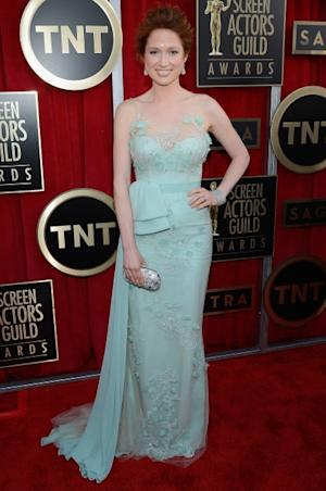 Ellie Kemper arrives at the 19th Annual Screen Actors Guild Awards held at The Shrine Auditorium on January 27, 2013 in Los Angeles (Photo by Getty Images) --
