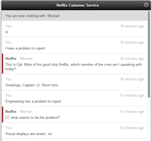 Star Trek Inspired Customer Service Exchange Goes Viral image NetflixChat