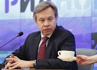 Alexei Pushkov, Chairman of the Russian State Duma Committee on International Affairs, attends a news conference in Moscow, March 27, 2012. REUTERS/Maxim Shemetov