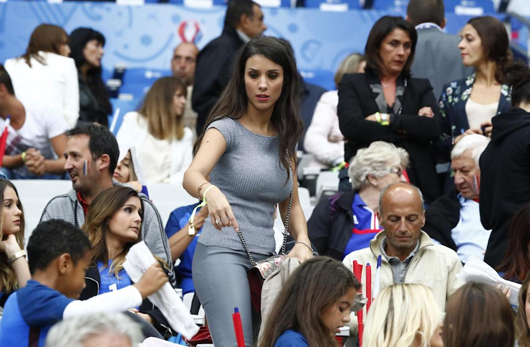 Wife of France's Bacary Sagna, Ludivine Kadri Sagna in the stands