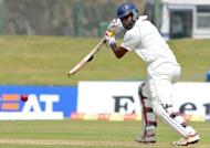 Sri Lanka cricketer Tharanga Paranavitana plays a shot during the first day of the opening Test match at the Galle International Stadium. Tillakaratne Dilshan and Kumar Sangakkara have hammered centuries as Sri Lanka walloped Pakistan on the opening day in Galle