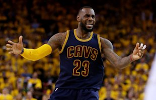 As a Cavalier, LeBron James is 0-5 in the NBA Finals. (Getty Images)
