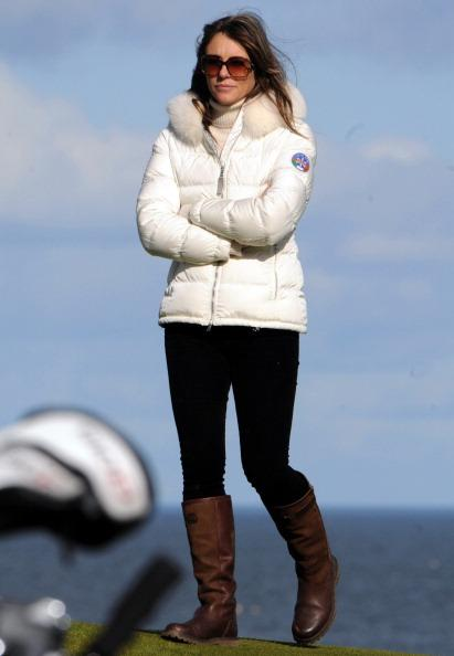 Liz Hurley Attends Alfred Dunhill Links Championship