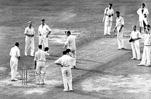 Don Bradman during his final Test series in England in 1948.
