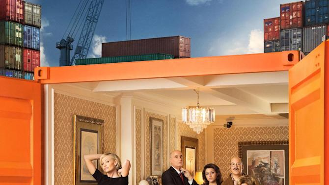 """This undated publicity photo provided by Netflix shows actress Jessica Walter, front right, and the cast of """"Arrested Development."""" Even Walter, an Emmy-winning character actress, is surprised to find herself at a new professional peak, thanks to the Netflix revival of her sitcom """"Arrested Development"""" as well as the continued success of the animated FX cult favorite, """"Archer."""" The new season for """"Arrested Development"""" began Sunday, May 26, 2013. (AP Photo/Netflix, F. Scott Schafer)"""