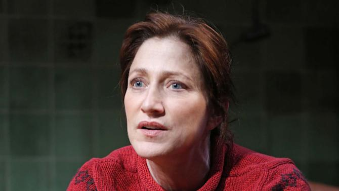 "This undated theater image released by Boneau/Bryan-Brown shows Edie Falco during a performance of ""The Madrid."" (AP Photo/Boneau/Bryan-Brown, Joan Marcus)"