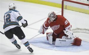 Marleau leads Sharks over Red Wings in shootout