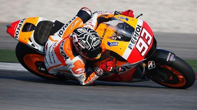 Motorcycling - Marquez fastest again on day two