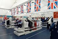 London Olympic products and memorabilia are displayed at the largest pop-up store in Hyde Park, London, on July 15, as Britain prepares to celebrate the beginning of the Olympic Games