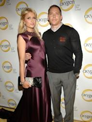Paris Hilton and Cy Waits attend Oxygen Media's 2011 upfront presentation at Gotham Hall on April 4, 2011 in New York City -- Getty Images