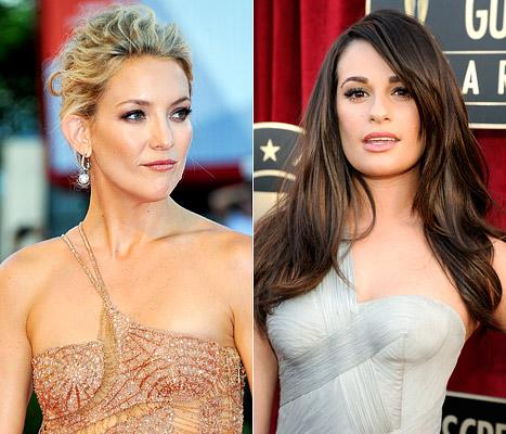 Kate Hudson Thinks Lea Michele Is a Diva on Glee Set!