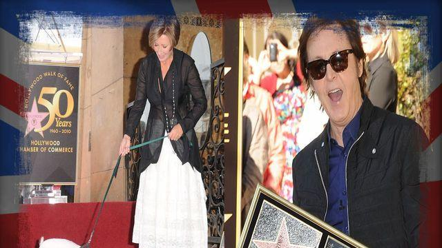 Celebs On The Walk Of Fame - British Stars