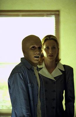 """Guest star <a href=""""/baselineperson/3662381"""">Chad E. Donella</a> (L) plays a """"monster"""" who commits murder to feed a gruesome habit, with Judith Hoag on the """"Hungry"""" episode of Fox's The X-Files X-Files"""