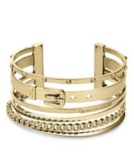 Cuff bracelets and bangles are all the rage at Michael Kors this fall