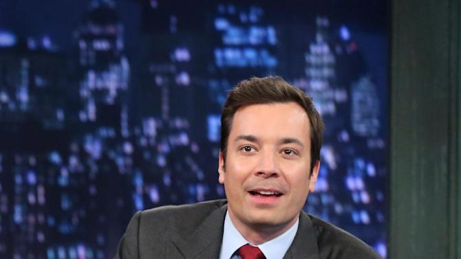 "This Feb. 1, 2013 photo released by NBC shows Jimmy Fallon, host of ""Late Night with Jimmy Fallon,"" on the set in New York. S speculation is swirling the network is taking steps to replace the host with Jimmy Fallon next year and move the show from Burbank to New York.  NBC confirmed Wednesday, March 20, it's creating a new studio for Fallon in New York, where he hosts ""Late Night."" But the network did not comment on a report that the digs at its Rockefeller Plaza headquarters may become home to a transplanted, Fallon-hosted ""Tonight Show."" (AP Photo/NBC, Lloyd Bishop)"
