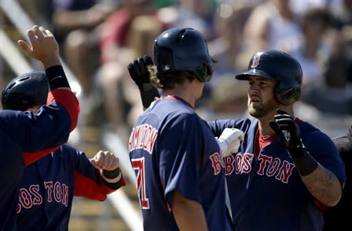 Napoli's 3-run shot sends Red Sox past Twins 12-5