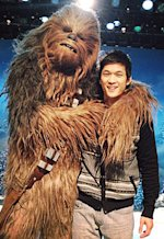 Chewbacca and Harry Shum Jr. | Photo Credits: Harry Shum Jr.