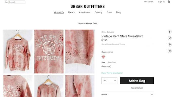 Urban Outfitters Apologizes for Insensitive Kent State Sweatshirt Sale