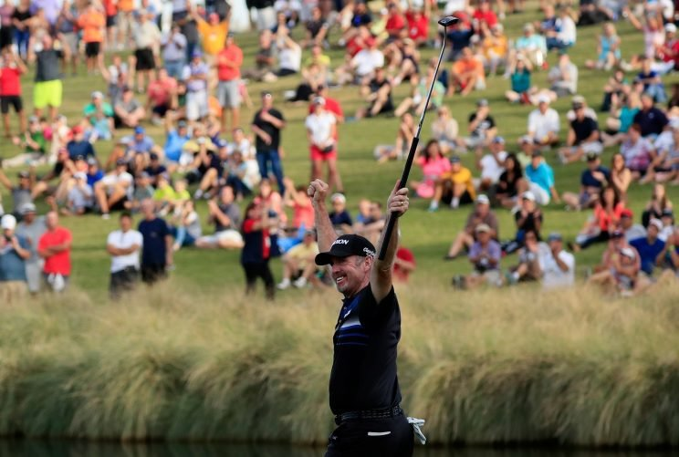 Rod Pampling had an unexpected triumph on Sunday in Vegas. (Getty Images)