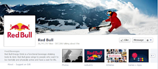 6 Reasons Why Your Company's Facebook Page is Unattractive image red bull fbook