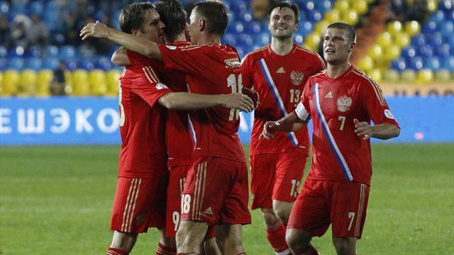 World Cup - Two-goal Kokorin eases Russia to victory over Luxembourg