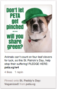How Brands Use St. Patrick's Day in Their Pinterest Marketing Plan image Screen Shot 2013 03 15 at 3.47.01 PM
