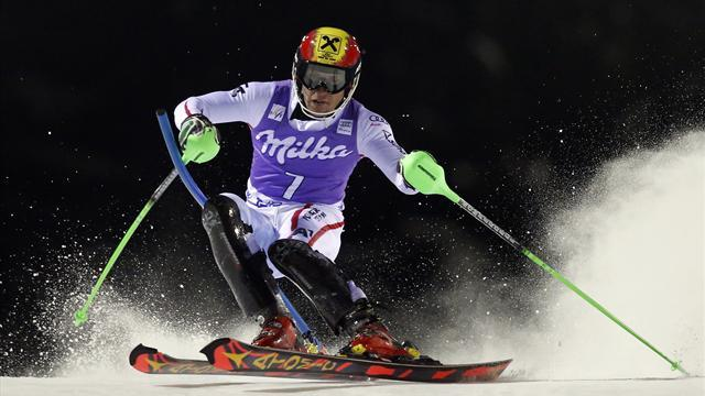 Alpine Skiing - Consistent Hirscher celebrates slalom win