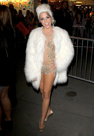 PHOTO: CeCe Frey Parties Nearly Naked In Nude Outfit At X Factor USA Afterparty