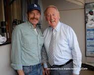 Tell Better Stories As A Marketer, Be Like Vin Scully image Bryan Cranston and Vin Scully 300x240
