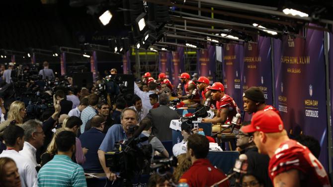 NFL: Super Bowl XLVII-San Francisco 49ers Media Day