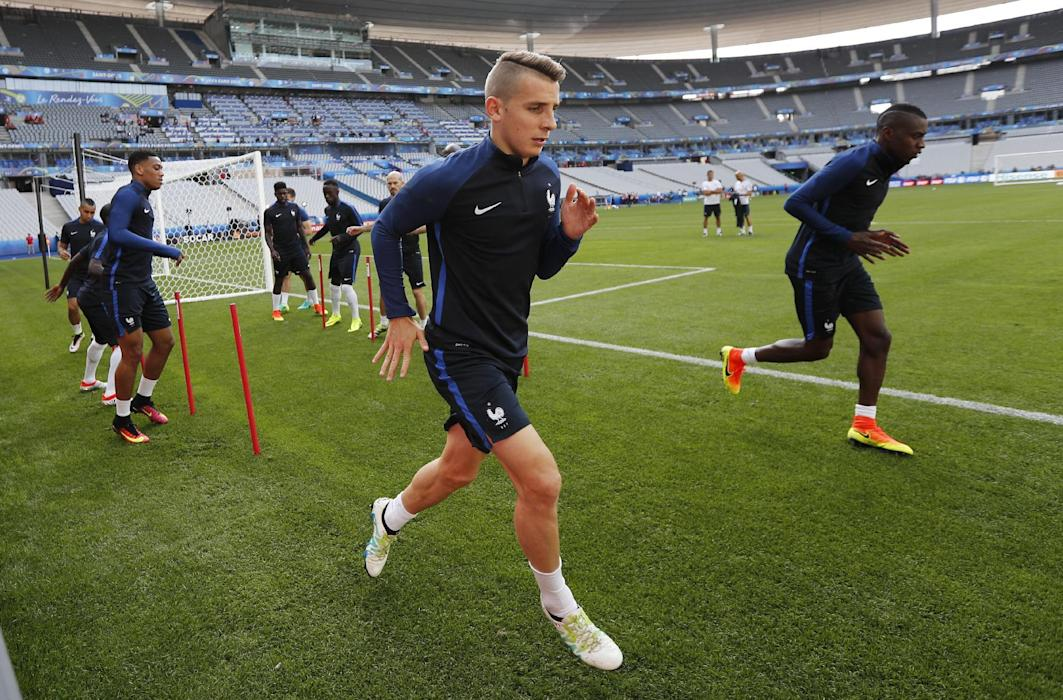 France's Lucas Digne during training
