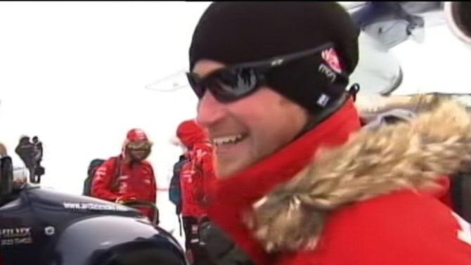 Prince Harry's Cheer Chilled by Antarctic Cold