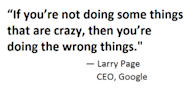 Applying Google's Moonshot Thinking to Digital Marketing image quoteGoogle