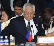 "Philippine Foreign Minister Albert del Rosario, shown at the ASEAN summit in Phnom Penh on July 12, denounced Chinese ""duplicity"" and ""intimidation"" in the South China Sea, souring the mood Thursday at a regional gathering designed to soothe tensions"