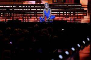 Miss New York Kira Kazantsev performs during the talent …