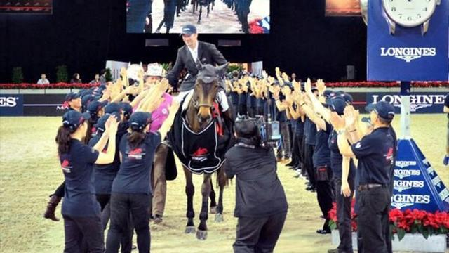 Equestrian - Best-ever Delaveau scorches field in HK