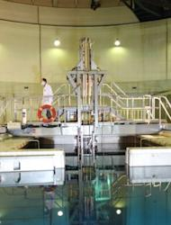 A handout picture released by the Iranian president's official website shows a metal-encased rod with 20 percent enriched nuclear fuel as it is inserted into Tehran's reactor on February 15, 2012
