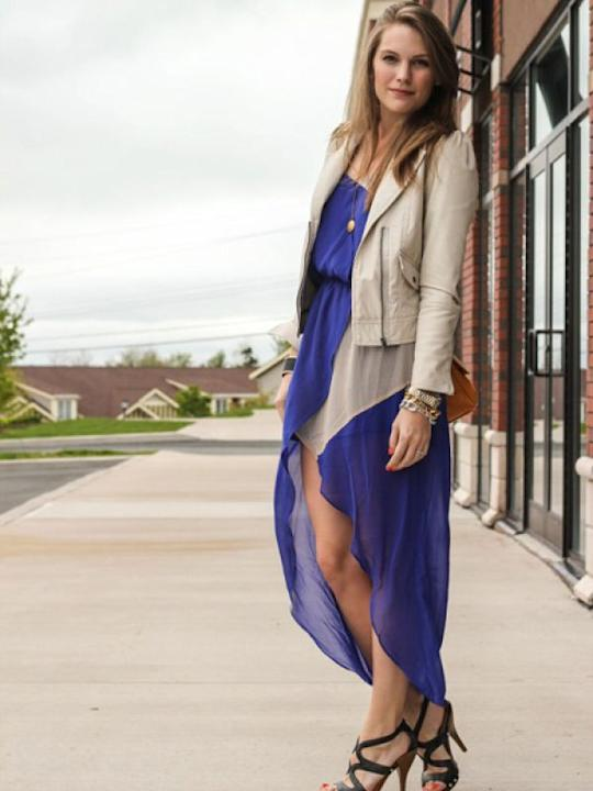 Images via : iDiva.com Snug fit leather jacket is the perfect counterpoint to a floaty, feminine dress. Source: StylePile Related Articles - How to Style Leather Pants Perfect Leather Jacket for Your