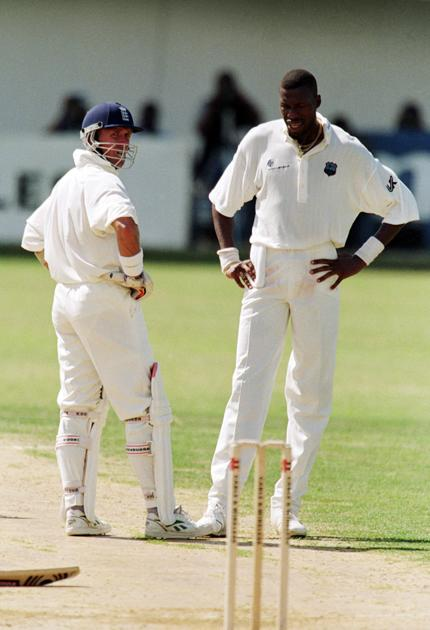 Alec Stewart and Curtly Ambrose