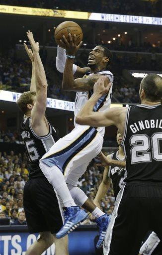 Spurs take 3-0 lead, beat Grizzlies 104-93 in OT