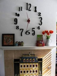 clock fireplace