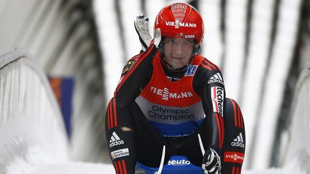 Luge - Huefner finally able to toast first World Cup win of the season